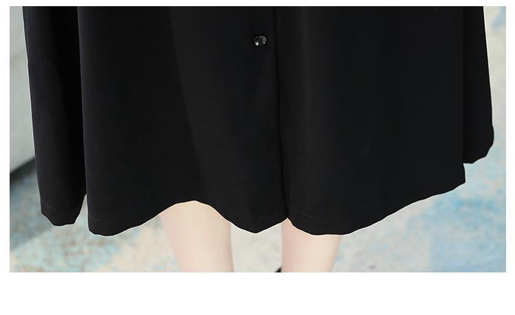 2021 סתיו חורף בציר נשים מקסי שמלה בתוספת גודל מוצק משרד אלגנטי ארוך שרוול שמלה מזדמן מסיבת שחור Bodycon Vestidos