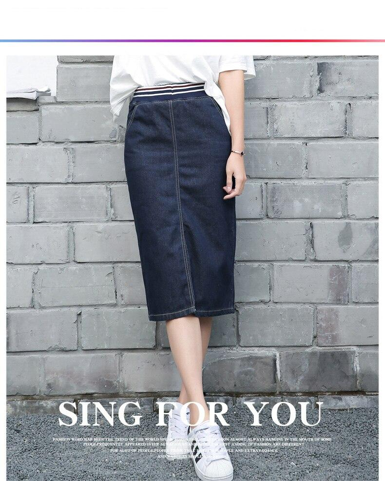 חדש ג 'ינס חצאיות 2021 נשים קיץ בנות משרד ליידי כחול ירך חבילת עיפרון Midi ג' ינס חצאית סתיו Bodycon Femininas
