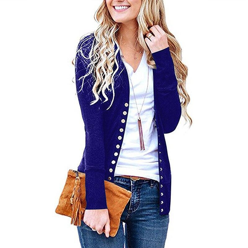 קרדיגן נשים ארוך שרוול סרוג סוודר נשים מעיל חולצות סתיו סוודר נשים אפודות בגדי אישה סוודרים קרדיגן Mujer